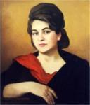 В.С.Золотавин. Женский портрет. 60х70 см., холст, масло.