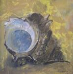 М.Ф.Серикова. Золотая. Из серии «Ракушки». 1997. 76х76 см., холст, эмаль, темпера.