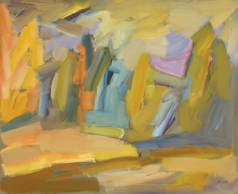 А.С.Александров. Золотая осень. 2015 г. Оргалит, акрил. 109х131 см.