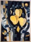 В.Максимова. Золотые яблоки. 60х80 см. текстильный коллаж.