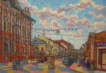 В.И.Затучный. Городской пейзаж. Х.м. 69х103 см. 2003 г.