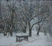 К.В.Золотайкин. Зимний сад. 2008, 70х80 см. холст, масло.